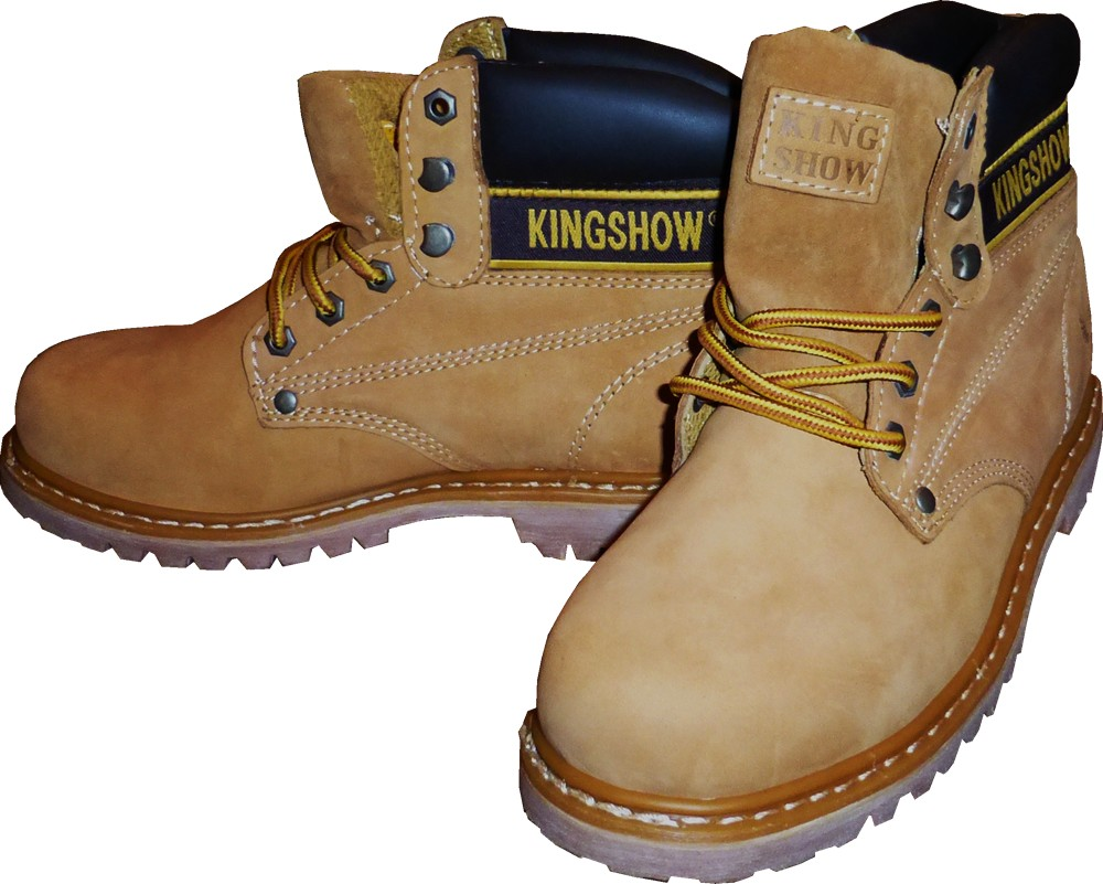 KINGSHOW Men Winter Snow Leather Boots