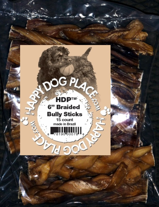 braided 6 bully sticks thick select pack of 15 sealed. Black Bedroom Furniture Sets. Home Design Ideas