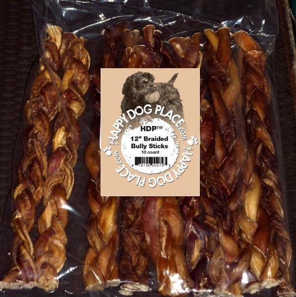 braided 12 bully sticks thick select pack of 10 sealed bully sticks flossies trachea chews. Black Bedroom Furniture Sets. Home Design Ideas