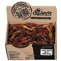 old west beef tendons case of 50 bully sticks flossies trachea chews and treats cans. Black Bedroom Furniture Sets. Home Design Ideas
